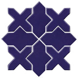 Clay Arabesque Alcazar Glazed Ceramic Tile - Cobalt