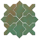 Clay Arabesque Alcazar Glazed Ceramic Tile - Copper