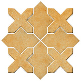 Clay Arabesque Alcazar Glazed Ceramic Tile - Dijon Mustard Matte