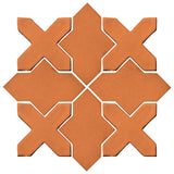 Clay Arabesque Alcazar Glazed Ceramic Tile - Fawn Brown Matte