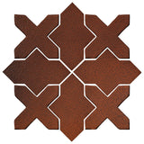 Clay Arabesque Alcazar Glazed Ceramic Tile - Leather