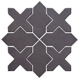 Clay Arabesque Alcazar Glazed Ceramic Tile - May Gray