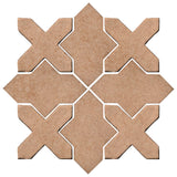 Clay Arabesque Alcazar Glazed Ceramic Tile - Mushroom Matte