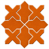 Clay Arabesque Alcazar Glazed Ceramic Tile - Nutmeg