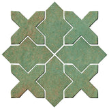 Clay Arabesque Alcazar Glazed Ceramic Tile - Patina Matte