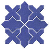 Clay Arabesque Alcazar Glazed Ceramic Tile - Periwinkle