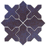 Clay Arabesque Alcazar Glazed Ceramic Tile - Persian Blue