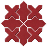 Clay Arabesque Alcazar Glazed Ceramic Tile - Plum
