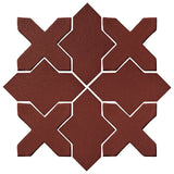 Clay Arabesque Alcazar Glazed Ceramic Tile - Pueblo Red