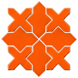 Clay Arabesque Alcazar Glazed Ceramic Tile - Pumpkin