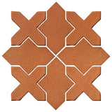 Clay Arabesque Alcazar Glazed Ceramic Tile - Red Iron