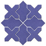 Clay Arabesque Alcazar Glazed Ceramic Tile - Spanish Lavender Matte