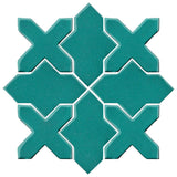 Clay Arabesque Alcazar Glazed Ceramic Tile - Teal