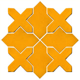 Clay Arabesque Alcazar Glazed Ceramic Tile - Valencia Orange Matte
