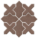 Clay Arabesque Alcazar Glazed Ceramic Tile - Winter Gray Matte
