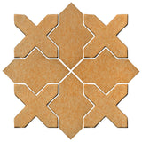 Clay Arabesque Alcazar Glazed Ceramic Tile - Yellowstone