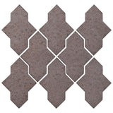 Clay Arabesque Castille Glazed Ceramic Tile - Ash