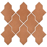 Clay Arabesque Castille Glazed Ceramic Tile - Beechnut