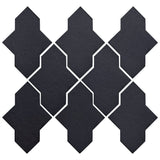Clay Arabesque Castille Glazed Ceramic Tile - Black Diamond