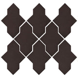 Clay Arabesque Castille Glazed Ceramic Tile - Charcoal Matte