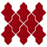 Clay Arabesque Castille Glazed Ceramic Tile - Cherry Red