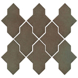 Clay Arabesque Castille Glazed Ceramic Tile - Elder Green