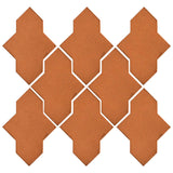 Clay Arabesque Castille Glazed Ceramic Tile - Fawn Brown Matte