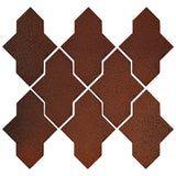 Clay Arabesque Castille Glazed Ceramic Tile - Leather