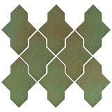 Clay Arabesque Castille Glazed Ceramic Tile - Light Copper