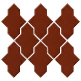 Clay Arabesque Castille Glazed Ceramic Tile - Mahogany