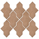 Clay Arabesque Castille Glazed Ceramic Tile - Mushroom Matte