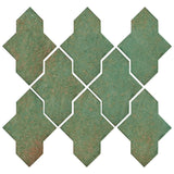 Clay Arabesque Castille Glazed Ceramic Tile - Patina Matte