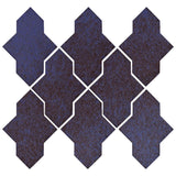 Clay Arabesque Castille Glazed Ceramic Tile - Persian Blue