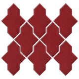 Clay Arabesque Castille Glazed Ceramic Tile - Plum