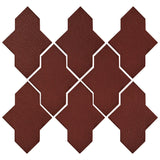 Clay Arabesque Castille Glazed Ceramic Tile - Pueblo Red