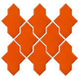 Clay Arabesque Castille Glazed Ceramic Tile - Pumpkin