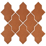 Clay Arabesque Castille Glazed Ceramic Tile - Red Iron