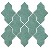 Clay Arabesque Castille Glazed Ceramic Tile - Sea Foam Green matte