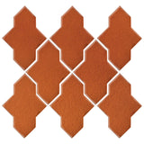 Clay Arabesque Castille Glazed Ceramic Tile - Spanish Brown