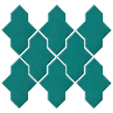 Clay Arabesque Castille Glazed Ceramic Tile - Teal