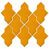 Clay Arabesque Castille Glazed Ceramic Tile - Valencia Orange Matte