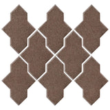 Clay Arabesque Castille Glazed Ceramic Tile - Winter Gray