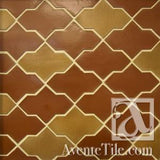 Clay Arabesque Castille Glazed Ceramic Tile in Two Colors