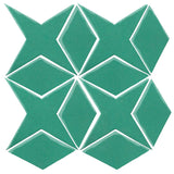 Clay Arabesque Granada Tile - Aqua Green 7724c