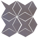 Clay Arabesque Granada Tile - Black & Blue