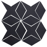 Clay Arabesque Granada Tile - Black Diamond
