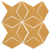 Clay Arabesque Granada Tile - Caramel Matte 7403u