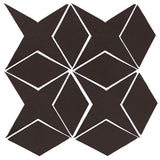 Clay Arabesque Granada Tile - Charcoal Matte 433u