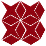 Clay Arabesque Granada Tile - Cherry Red 202c