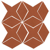 Clay Arabesque Granada Tile - Chocolate Matte 175u
